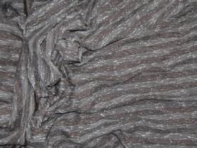 Костюмная твид полоска букле коричневый