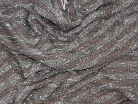 Костюмная твид полоска букле       светло-коричневый