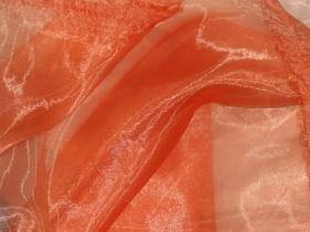Органза однотонная оранжевая